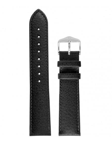 Λουράκι HIRSCH Kansas Μαύρο Δερμάτινο 22mm