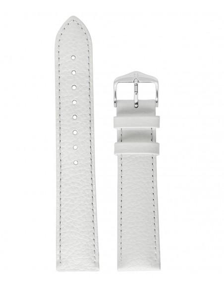 Λουράκι HIRSCH Kansas Λευκό Δερμάτινο 22mm