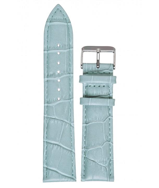 Λουράκι TZEVELION Σιέλ Κροκό Δερμάτινο 18mm 521.5A.18