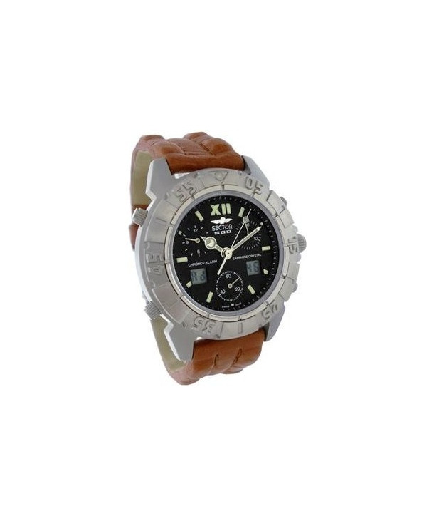 SECTOR 500 Brown Leather Strap