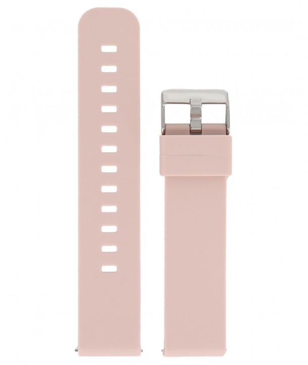 Λουράκι DILOY Ροζ Σιλικόνης 18mm
