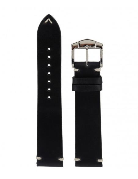 Λουράκι ZRC Tulsa Μαύρο Δερμάτινο 22mm