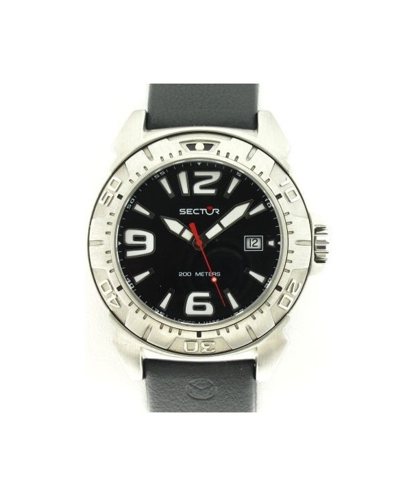 SECTOR Black Rubber Strap
