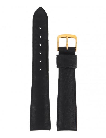 Λουράκι TZEVELION Μαύρο Δερμάτινο 20mm