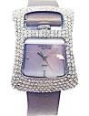 ANNE KLEIN Purple Leather Strap