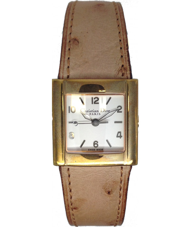 Christian DIOR Brown Leather Strap