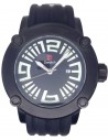 D Watch Black Rubber Strap