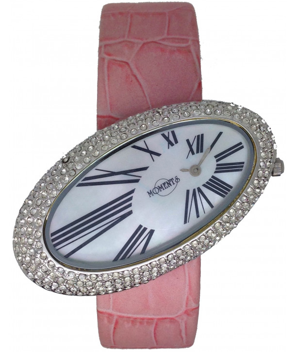 MOMENTS Pink Leather Strap