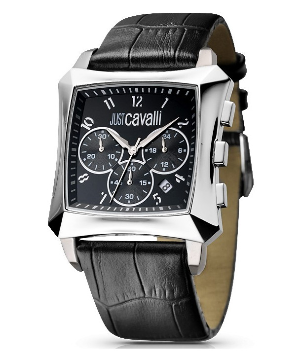 Just CAVALLI Black Leather Strap