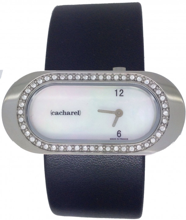 CACHAREL Black Leather Strap