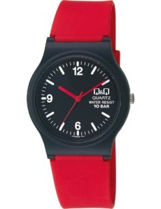 Q&Q Red Rubber Strap