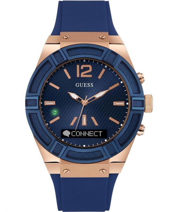 GUESS Connect Smartwatch Blue Rubber STrap - Κοσμήματα   Ρολόγια Βυτόπουλος 77321e427cb